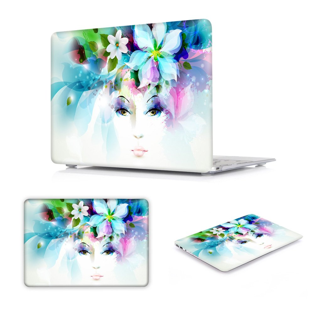 Batianda Dream Catcher Color Crystal Laptop Sleeve Hard Cover Case for Apple MacBook Air 13 inch [Models: A1369 and A1466] with Gradient Keyboard Cover - Grey Air13-M379