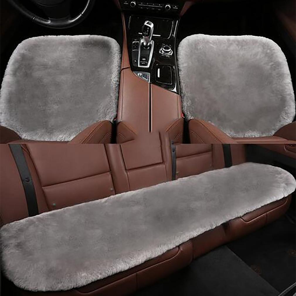 LPY-1 set Car Wool Monolithic Cushion Plush Cushion Car Supplies , purple