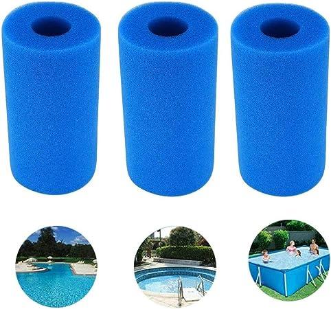 Esponja de Filtro Esponja de Filtro de Piscina Lavable y Reutilizable, Adecuada para bañera de hidromasaje con Sistema Intex Tipo A