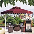 Falove Vintage Waterproof Solar Powered Lantern,Solar Powered Hanging Umbrella Lantern Candle Lights Led with Clamp Beach Umbrella Tree Pavilion Garden Yard Lawn Etc. Lighting & Decoration