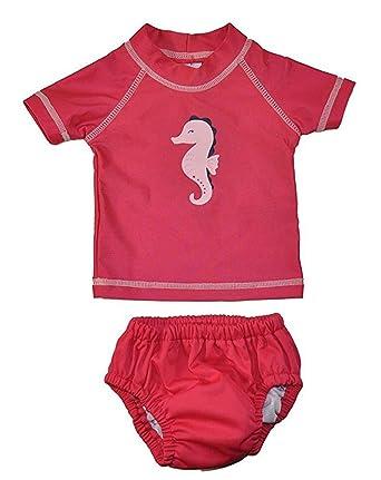 6400564a2 Amazon.com: Carter's Just One You Baby Girls Pink 2pc Rashguard Swim ...