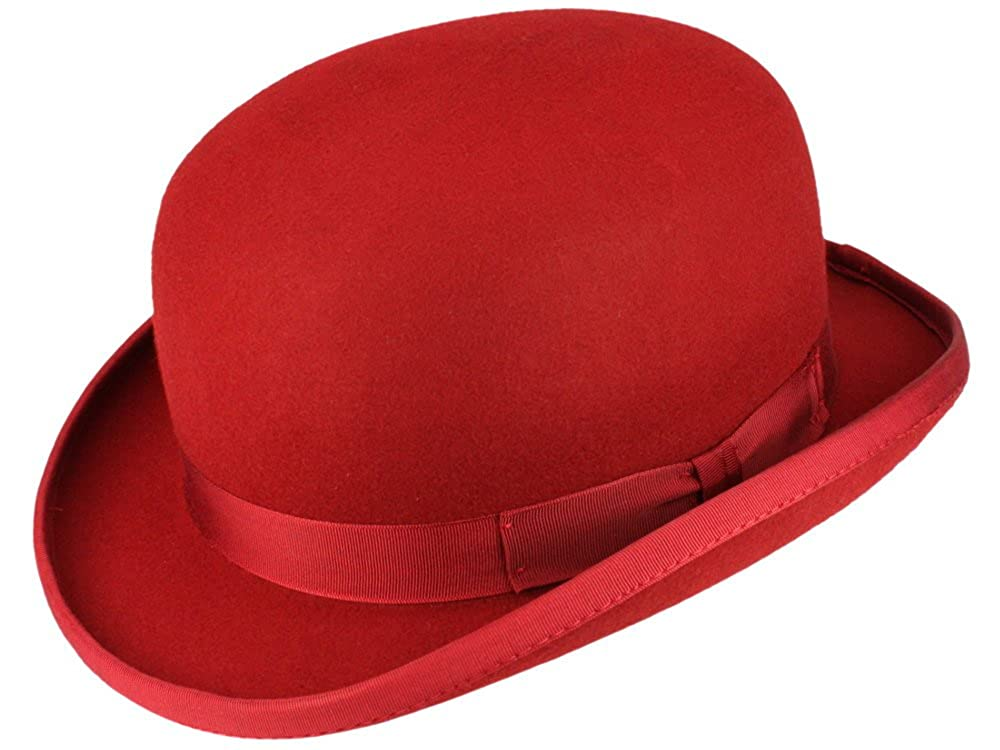 Christys' Fashion Bowler Wollfilz Melone Bowler Filzhut - red Christys'
