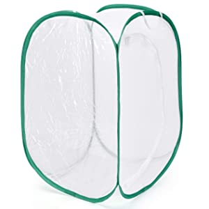 Alezywels Caterpillar Habitat, 24 x 24 x 36 Inches Monarch Butterfly Cage Habitat with 5 Mesh Panels for Airflow Pop Up Butterfly Kit (36 Inches Tall)