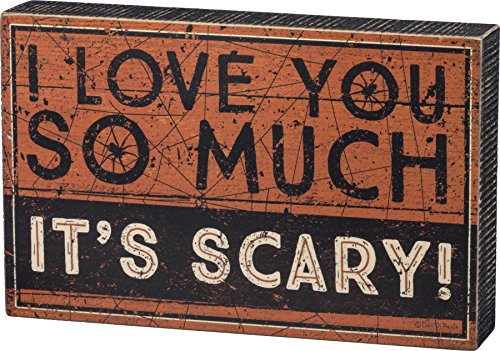 PBK Halloween Decor - Box Sign I Love You So Much It's Scary #83698