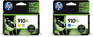 HP 910XL | Ink Cartridge | Yellow | 3YL64AN & 910XL | Ink Cartridge | Cyan | 3YL62AN