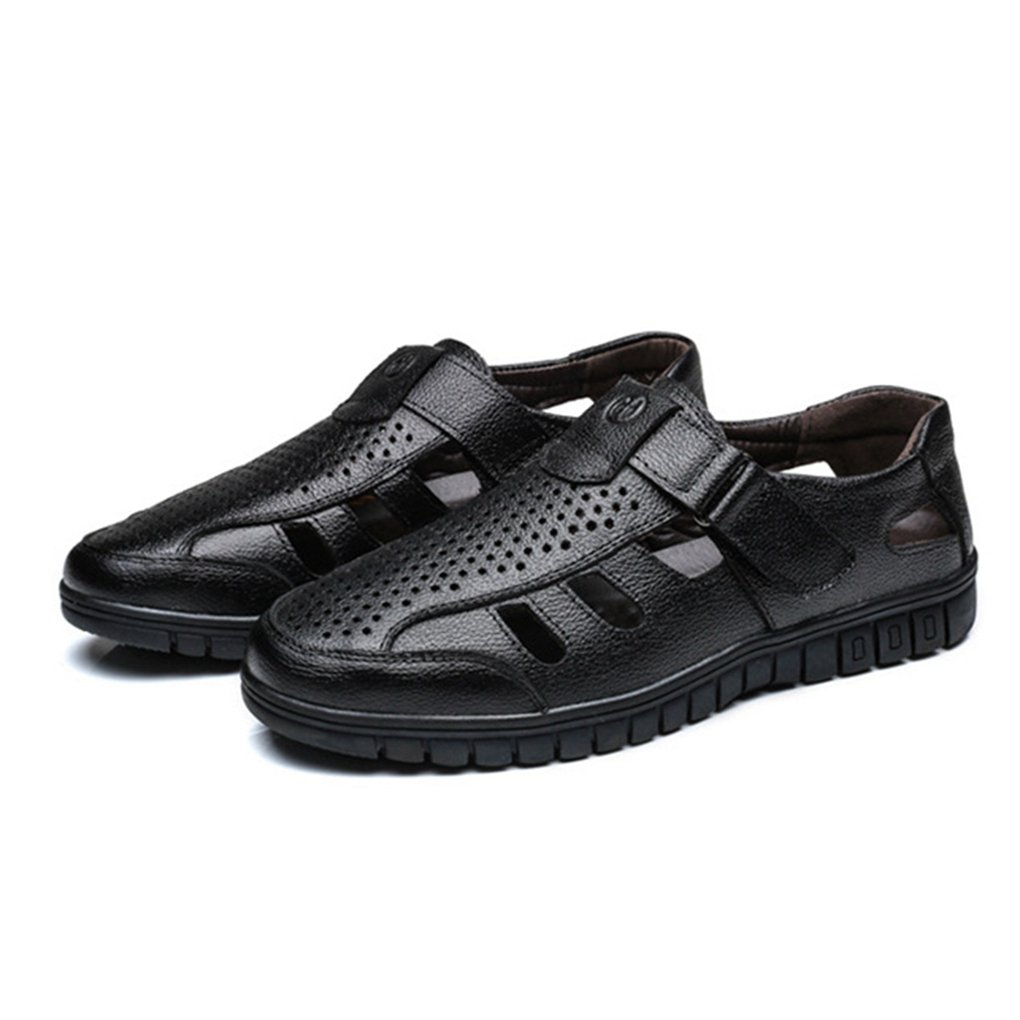 Yaloee Summer Sandals Leather Breathable Soft Comfortable Shoes Men