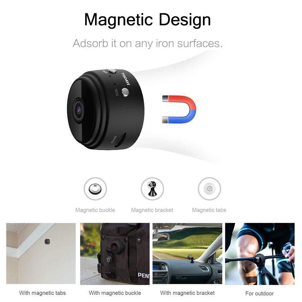 AWIS Mini Camara,HD 1080P Videocámara Vigilancia Portátil,Detector de Movimiento,Vision Nocturna,para Interior/Exterior,White: Amazon.es: Electrónica