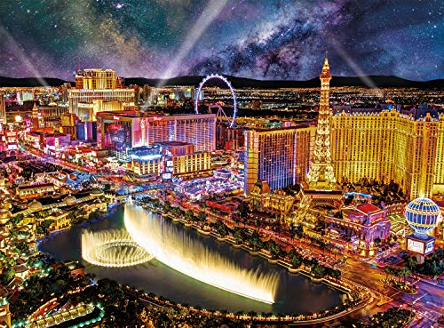 Buffalo Games - Photography - Las Vegas Night - 1000 Piece Jigsaw Puzzle