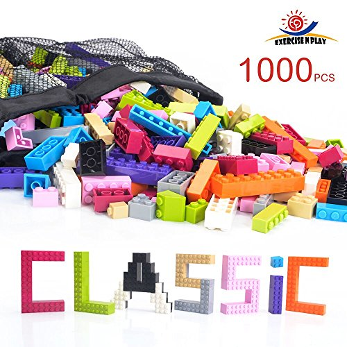 Exercise N Play -Building Bricks - Pastel Colors - 1000 Pieces -...