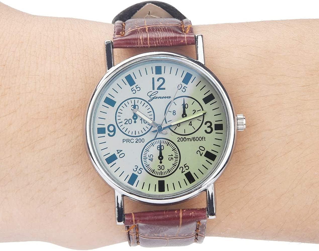 BLU Ray Glass Watch El Cuarzo Neutral simula el Reloj de Pulsera ...