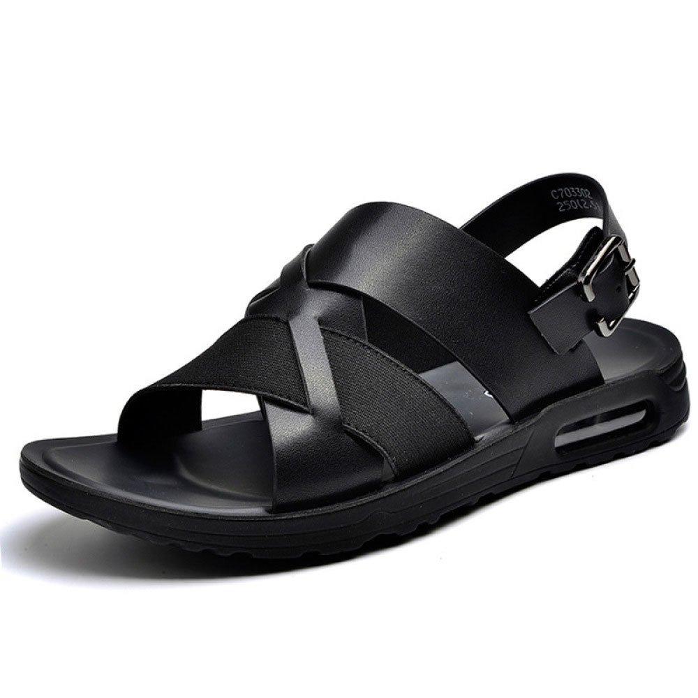Sandalias para Hombres Zapatillas Ocasionales Respirables De Verano Zapatos De Playa para Hombres 43 EU|Black
