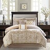 Madison Park Vanessa 7 Piece Comforter Set Gold Queen