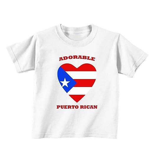 62ec7836b62 Amazon.com  Adorable Puerto Rican Puerto Rico Baby Toddler Kid T ...