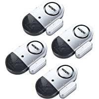 Door Window Alarm 4 Pack NOOPEL Magnetic Entry Sensor Burglar Alert 120DB Loud for Home Security Kids Safety with…