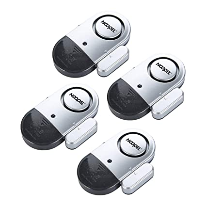 Amazon Door Window Alarm 4 Pack Noopel Magnetic Entry Sensor