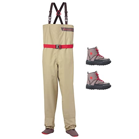 Redington Crosswater Youth Fly Fishing Waders Boots Bundle