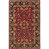 Safavieh Heritage Collection HG966A Handmade Red and Navy Wool Area Rug, 4 feet by 6 feet (4' x 6')