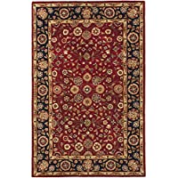 Safavieh Heritage Collection HG966A Handcrafted Traditional Oriental Red and Navy Wool Area Rug (3 x 5)