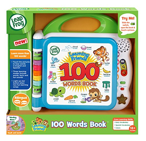 616ssk0m0zL - LeapFrog Learning Friends 100 Words Book, Green