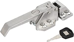 Aexit Zinc Alloy Lock Screw Fixed Freezer Cooler Door Pull Handle Latch Lock Silver Tone Model:83as438qo243