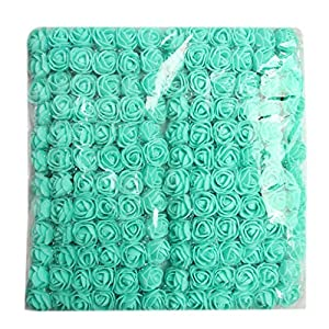 Fityle 144x Artificial Miniature Foam Rose Flower Wedding Bouquet DIY Craft Decor 44