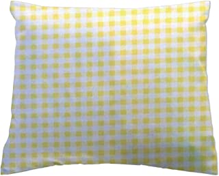 product image for SheetWorld Crib Toddler Pillow Case, 100% Cotton Jersey Knit, Yellow Gingham Jersey Knit, 13 x 17, Made in USA