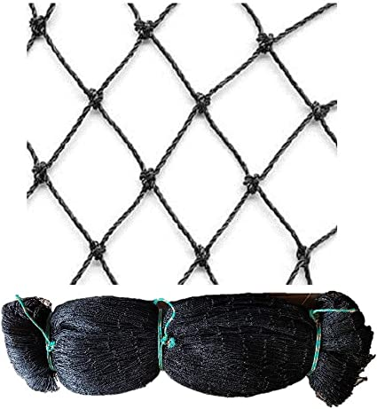 Network Aviary 10 M x 10 M Black Mesh Width 5 cm hühnerauslauf network