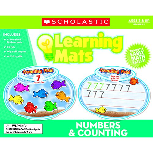 Scholastic TF-7102 Numbers & Counting Learning Mats, Multi (Pack of 71)