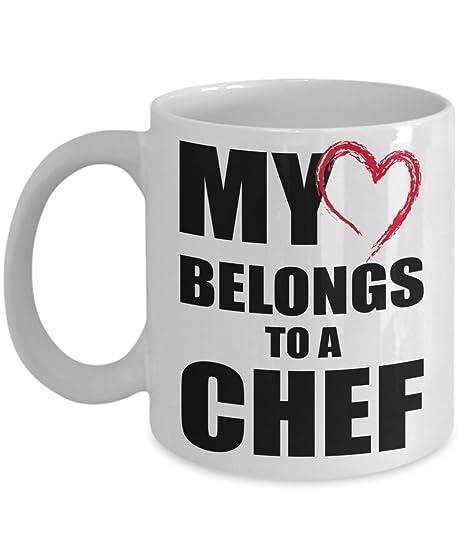 Amazon.com: Chef regalo taza de café, taza de té romántico ...