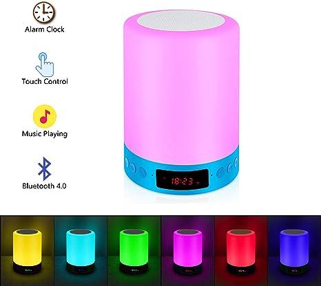 Amazon.com: Lámpara de noche con sensor táctil RC, altavoz ...