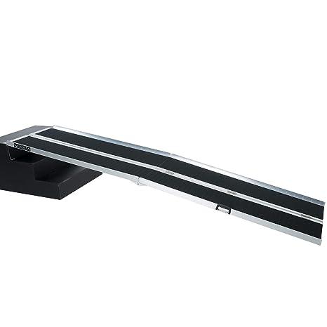 WORHAN® 3.05m Rampa Plegable Carga Silla de Ruedas Discapacitado Movilidad Aluminio Anodizado Modelo de