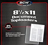 100 BCW 8.5X11 Photo Sleeves and Toploaders