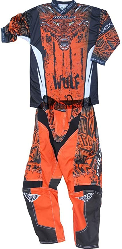 , PANT: 24 waist Kids Race Suit WULFSPORT FORTE 2020 Motorcycle Motorbike Quad Pit Bike ATV BMX Childrens Junior Motocross Red Jersey and Trouser RED : SHIRT 8-10 Years