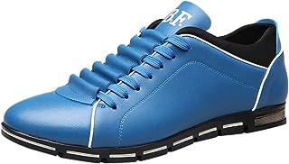 Chaussures ADESHOP Mode Hommes l'Angleterre Style Sportif Les Affaires Les Loisirs Chaussures en Cuir Couleur Pure à Bout Rond Outdoor Grande Taille Respirantes Travail Sport AntidéRapant Baskets