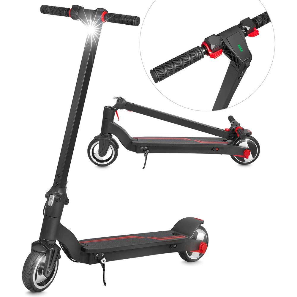 XPRIT Folding Electric Kick Scooter w/Long Lasting Battery (Black-6.5'' Wheel) by XPRIT