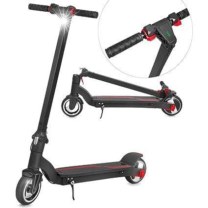 Folding Electric Scooter >> Xprit Folding Electric Kick Scooter W Long Lasting Battery Black 6 5 Wheel
