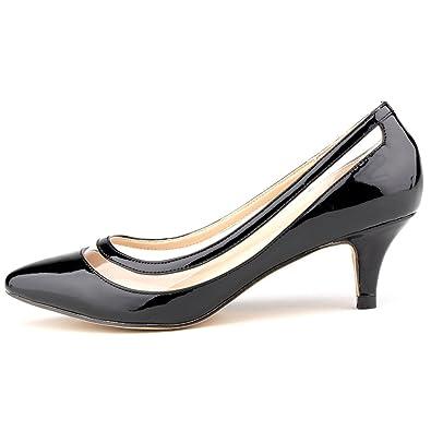 28f613912d1b ZriEy Women s Ladies Classic Simple Pumps Elegant Sexy Comfort Mid Heel  Dress Pump Black