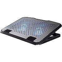 """HAMA, Base Refrigeración para Portátiles, Portátiles de 15.6"""" Pulgadas, Aluminio, Iluminación LED Azul, Ventiladores…"""
