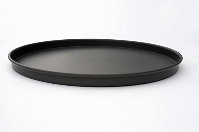 inches Rolled Rim for Strength Straight Sided Pizza Pan Dark Gray LloydPans 10x1 Pre-Seasoned PSTK