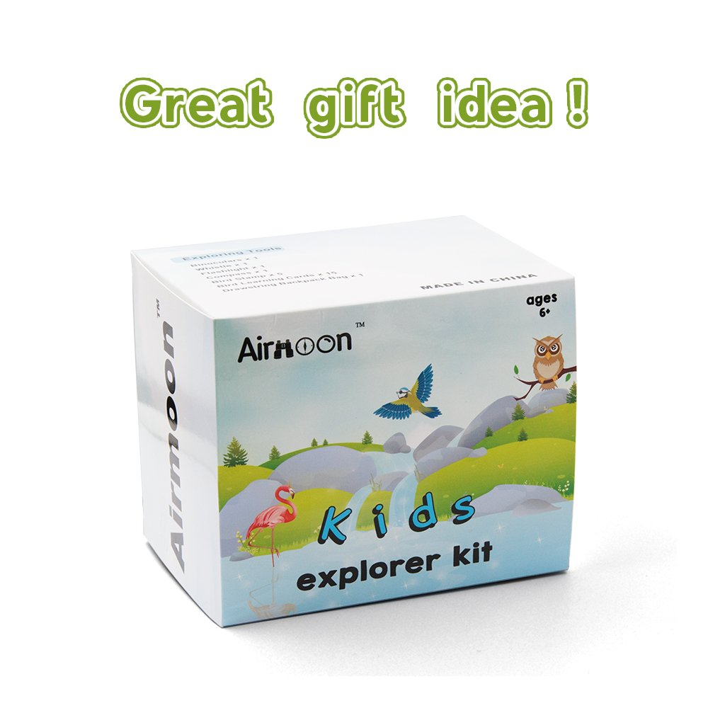 Airmoon Nature Discover Kit, Platinum Bird Watching Set for Kid, Pack of 24, for Explorer Jungle, Camping, Family Hiking, Educational and Bird Watching, Attractive package, Gift idea by Airmoon (Image #9)