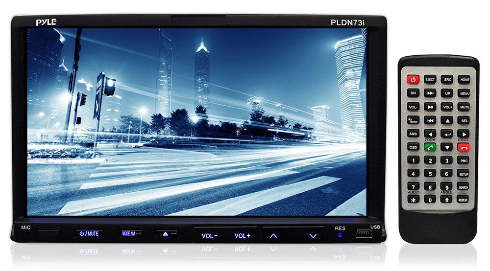616syKMqyVL._SL1000_ amazon com pyle pldn73i 7 inch double din tft touchscreen dvd vcd pyle view pldn73i wiring diagram at n-0.co