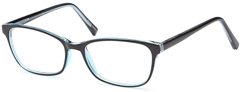 f3e6bf9ea2 Amazon.com  DALIX Womens Prescription Eyeglasses Frames 53-17-140-37 RXable  in Black Blue GLS-D16126  Clothing