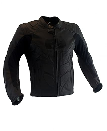 Oxford Products Chaqueta de Motorista, Negro, 46: Amazon.es ...
