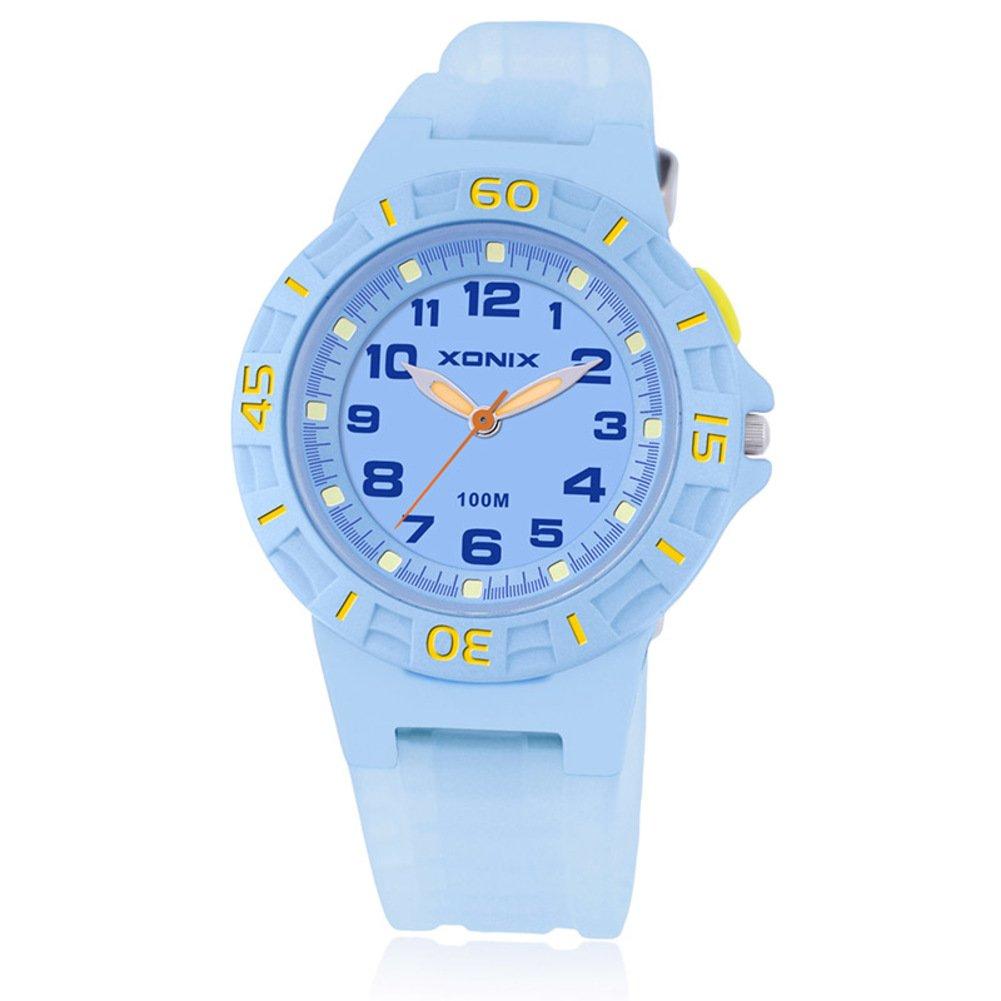 GUOSHIMAOYI Boys and girls [child] Luminous Watch,Student Waterproof Quartz [movement] Resin Rubber Watch-A