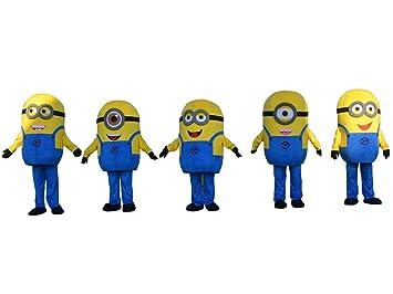 SinoOcean 5 Minions Disfraz de Mascota para adultos, disfraz de ...