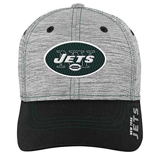 - NFL by Outerstuff NFL New York Jets Youth Boys Velocity Structured Flex Hat Heather Grey, Youth One Size