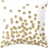 AIMTOPPY Gold Glitter Dots Square Throw Pillow Case Cushion Cover Home Decor