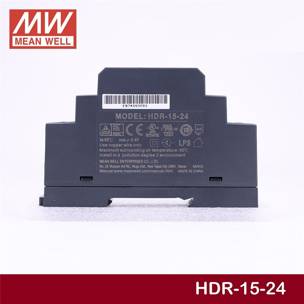 Brand: New Utini Wholesale Price Mean Well HDR-15-24 24V 0.63A meanwell HDR-15 15W Single Output Industrial DIN Rail Power Supply