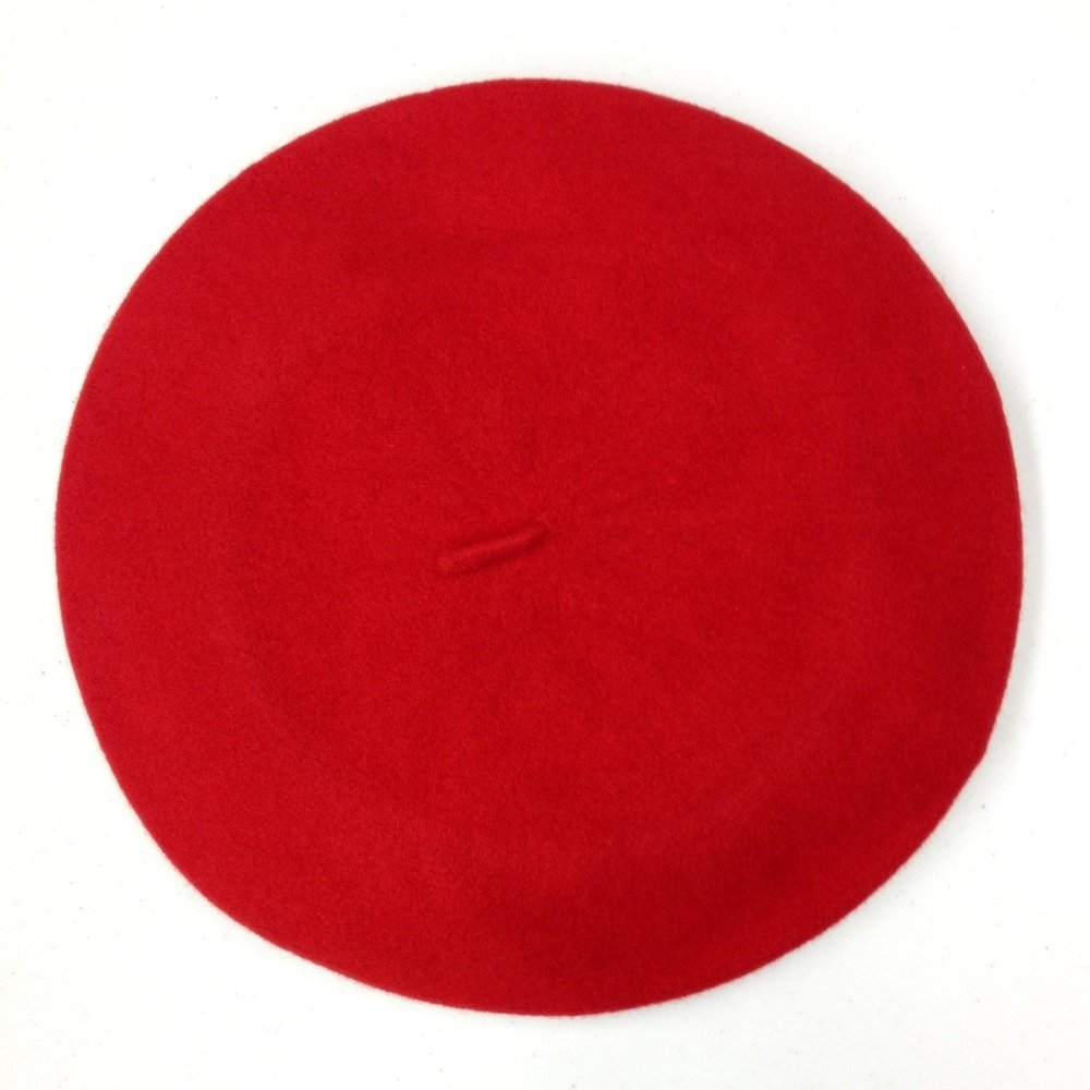 Parkhurst Classic French Beret (Adult)- 100% Wool - SCARLET RED