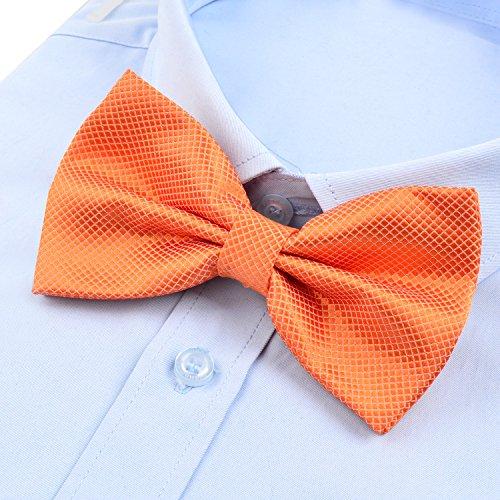 Cravatta a la Orange per farfalla nuziale annodata festa Già Alizeal Man 4T4Zqr